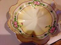 """Yellow with Floral Design Chinese Bowl 7"""" X 2""""  Pre-Owned"""