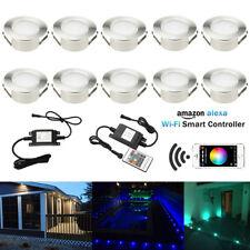 10X Smart Home Wifi Control RGB+Warm White 61mm Yard LED Deck Step Soffit Lights