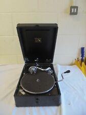 Vintage His Masters Voice Suitcase Gramophone No.58