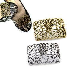 1Pc Vintage Hollow Metal Shoe Buckle Clip Women Shoe Decor Accessories Removable