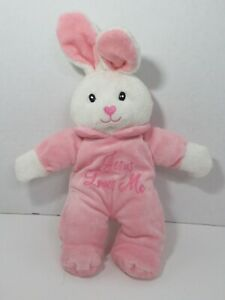 Dandee singing Jesus Loves Me Plush Bunny Rabbit pink white 2010