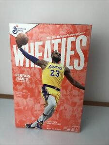 Lebron James Wheaties Box Los Angeles Lakers 15.6 oz Full Cereal Sealed Box NBA