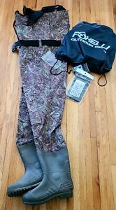 Foxelli Chest Waders Fishing Waders for Men Boots Size 11 Medium / Large