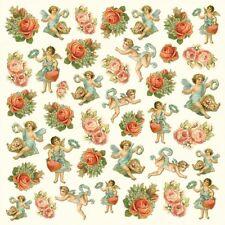 Serviette en papier de riz DFT197 Ange et Rose Rice Decoupage Paper Napkin Angel