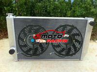 Aluminum Radiator+Fans For Ford Falcon XC XD XE XF V8 6cyl Fairlane ZH ZJ ZK ZL