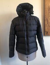 Lands' End Women's Black Puffer Jacket Coat Detachable Hood Size Small