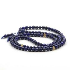 6mm Blue Lapis Lazuli Gemstone Tibet Buddhist 108 Prayer Beads Mala Necklace