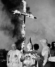 8x10 Print KKK Ku Klux Klan Imperial Wizard Cross Burning 1965 #KKK102