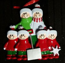 Personalized Couple Family 6 Shovel Christmas Tree Ornament Holiday Gift