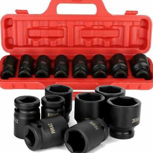 "3/4""Inch DRIVE DEEP IMPACT Socket Set 24mm-38mm Long  Impact Socke HD"