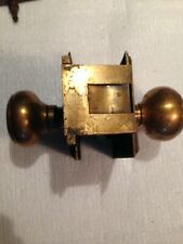 Antique Corbin Door Lock Unit Brass/Bronze Patented  6/6/1899 - No Key