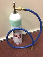 R22 R-22 Refrigerant 22, Recharge Kit, LARGE 35 oz. Can, Taper & Hose