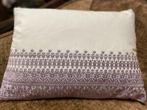 Ralph Lauren Alessandra Ardsley Melicent Embroidered Throw/Deco Pillow Violet