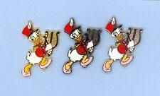 Disney Disneyland Marching Band Daisy Duck Bell Lyre - All 3 Versions Pin Set