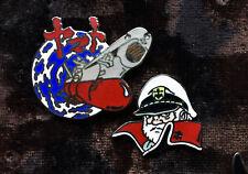 2 Pin Set Yamato Starblazers Captain Super Rare! Vintage Anime 1985