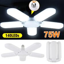 5/4/3 Blade E27 LED Garage Lights Bulb Deformable Workshop Ceiling Fixture Lamp