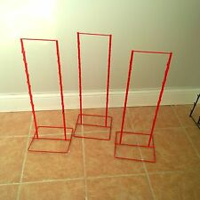 3 - Double Round Strip Potato Chip, Candy Clip Counter Display Racks in Red