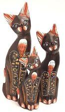 Katzen 3 Set Holz Cat Katze Katzenset Deko Figur 25 cm 20 cm 15 cm *