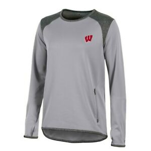 Wisconsin Badgers NCAA Champion Women's (Grey) Athletic Tech Perf. Crew
