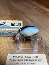 Vintage Fishing Lure Original Hawk W/Box & Paper Rare White Scale Tough Bait