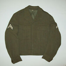 Old vtg 1948 Post WWII US Army Ike Uniform Jacket Big Red One Patch Very Nice