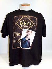 The BRO Code How I Met Your Mother T-Shirt Barney Stinson Black S/S Size XL