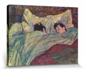 Henri De Toulouse-Lautrec - The Bed Poster Mounted Canvas Print (32x24in) #90965