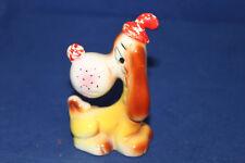 Vintage Criterion Japan Shiny Porcelain Sad Faced Hound Dog With Tears Figurine