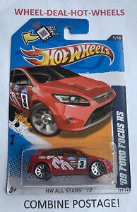 🔸HOT WHEELS 2012 ALL STARS '09 FORD FOCUS RS VR! VHTF! MOC!🔸