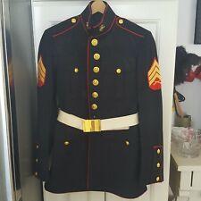 Marine Corp Dress Blue Uniform Coat Belt with 2 Pair Pants