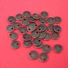 50pcs- Antique Copper Color Flat Round Blank Disk 8mm.