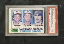 1982 TOPPS BASEBALL # 21 ORIOLES FUTURE STARS BONNER/RIPKEN/SCHNEIDER PSA 5 NMMT
