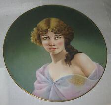 Antique Hand Painted Porcelain Plaque 15.5 diam. early 1900