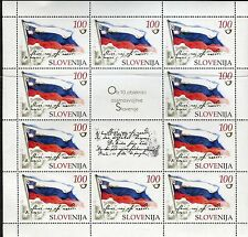 SLOVENIA 2001 INDEPENDENCE 10th ANNIVERSARY/NATIONAL FLAG/EMBLEM sheet