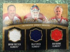 2008-09 ARTIFACTS TUNDRA TRIOS GOLD Smith Trottier Bourne 3 color swatch #21/75