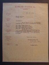 Movie Letterhead Supreme System 1919 Just Plain Folks Dorothy Dane Bobby Vernon
