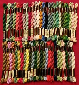 Anchor Perle Coton Pearl Cotton Embroidery Thread Lot 50 Skeins Size 3 - Lot #2