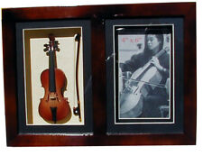"Photo frame shadow box 11.63""x8.5"" framed w/Cello miniature handmade collectible"