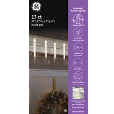 GE StayBright RandomSparkle 13 ct 52 Warm White LED Ice Crystal Icicle Light Set