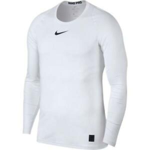 Nike Men's Pro Fitted Long Sleeve Training Shirt 838081-100 White