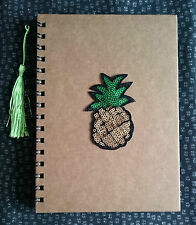 Funky Cute Rockabilly Retro PINEAPPLE Sequin A5 Notebook Notepad Fun Kitsch Gift