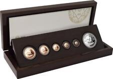 Südafrika 1,92 Rand 2018 Krügerrand Fractional Satz Silber / Gold PP in Holzbox