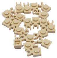 LEGO - 25 x Platte 1x1 beige ( Tan ) mit O - Clip waagerecht / 4085d NEUWARE