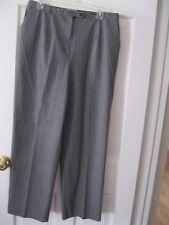 LADIES SAG HARBOR GRAY STRIPE DRESS SLACKS, SIZE 16R, EXCELLENT