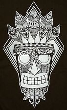 """Witch Doctor"" Aku Aku Crash Aztec Men's XXXL Shirt Teefury"