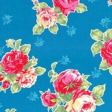 Cottage Chic & Shabby Lecien Flower Sugar Large Floral Bouquet 30967L-70 Blue