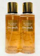 2 Victoria's Secret BARE VANILLA Fragrance Mist Body Spray Perfume