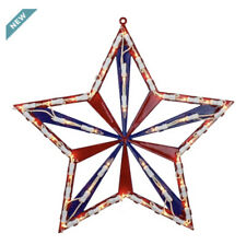 """14"""" July 4th Star Window Silhouette Decoration (w,a) S28"""