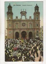 Las Palmas Catedral Procesion Spain Vintage Postcard 677b