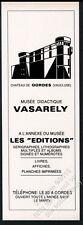 1972 Victor Vasarely Chateau de Gordes museum art vintage print ad